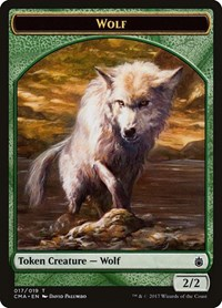 Wolf Token (017), Magic: The Gathering, Commander Anthology