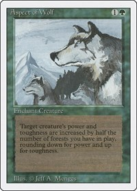 Aspect of Wolf, Magic: The Gathering, Revised Edition