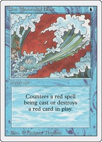 Blue Elemental Blast, Magic: The Gathering, Revised Edition