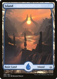 Island (186) - Full Art, Magic: The Gathering, Hour of Devastation