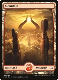 Mountain (188) - Full Art, Magic: The Gathering, Hour of Devastation