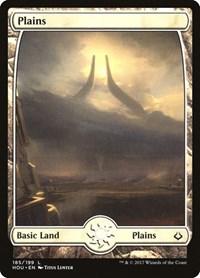Plains (185) - Full Art, Magic: The Gathering, Hour of Devastation