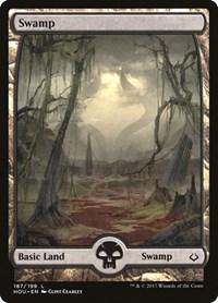 Swamp (187) - Full Art, Magic: The Gathering, Hour of Devastation
