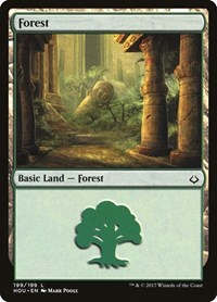 Forest (199), Magic: The Gathering, Hour of Devastation