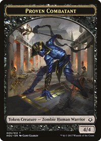 Proven Combatant Token, Magic: The Gathering, Hour of Devastation