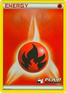 Fire Energy (2011 Play! Pokemon Promo), Pokemon, League & Championship Cards