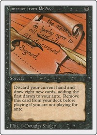 Contract from Below, Magic: The Gathering, Revised Edition