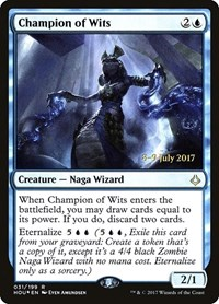 Champion of Wits, Magic: The Gathering, Prerelease Cards