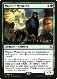 Majestic Myriarch, Magic: The Gathering, Prerelease Cards