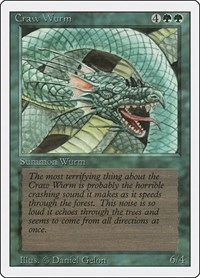 Craw Wurm, Magic: The Gathering, Revised Edition
