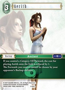 Final Fantasy TCG Opus 3 III Non-Foil Complete Set Starters Genesis Zack Aerith