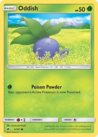 Oddish, Pokemon, SM - Burning Shadows