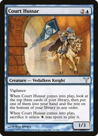 Court Hussar, Magic: The Gathering, Dissension
