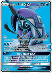 Tapu Fini GX (Full Art), Pokemon, SM - Burning Shadows