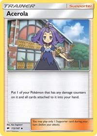 Acerola, Pokemon, SM - Burning Shadows