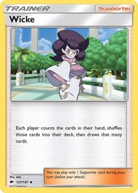Wicke, Pokemon, SM - Burning Shadows