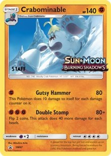 Crabominable - SM47 (Prerelease Promo) [Staff], Pokemon, SM Promos