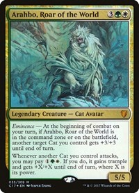 Arahbo, Roar of the World, Magic: The Gathering, Commander 2017