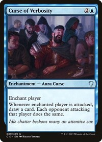 Curse of Verbosity, Magic: The Gathering, Commander 2017