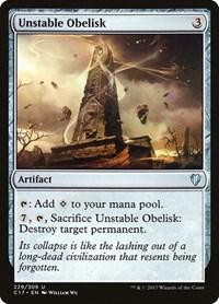 Unstable Obelisk, Magic: The Gathering, Commander 2017