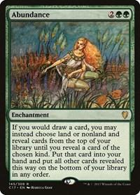 Abundance, Magic, Commander 2017