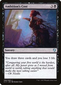 Ambition's Cost, Magic: The Gathering, Commander 2017