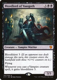Bloodlord of Vaasgoth, Magic: The Gathering, Commander 2017