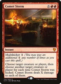 Comet Storm, Magic: The Gathering, Commander 2017