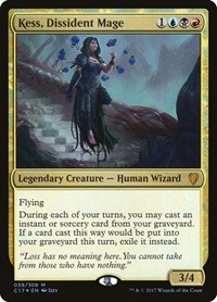 Kess, Dissident Mage, Magic: The Gathering, Commander 2017