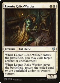 Leonin Relic-Warder, Magic, Commander 2017