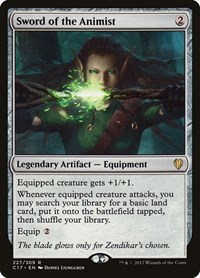 Sword of the Animist, Magic: The Gathering, Commander 2017