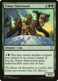 Temur Sabertooth, Magic: The Gathering, Commander 2017