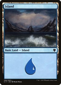 Island (299), Magic: The Gathering, Commander 2017