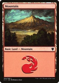 Mountain (304), Magic: The Gathering, Commander 2017