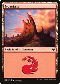 Mountain (305), Magic: The Gathering, Commander 2017