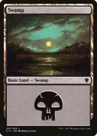 Swamp (301), Magic: The Gathering, Commander 2017