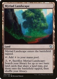 Myriad Landscape, Magic: The Gathering, Commander 2017