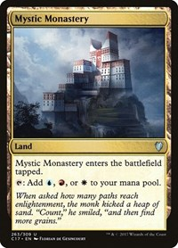 Mystic Monastery, Magic: The Gathering, Commander 2017