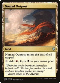 Nomad Outpost, Magic: The Gathering, Commander 2017