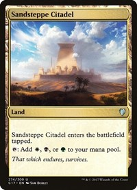 Sandsteppe Citadel, Magic: The Gathering, Commander 2017
