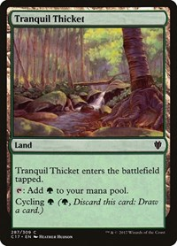 Tranquil Thicket, Magic: The Gathering, Commander 2017