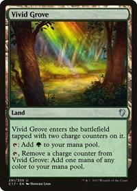 Vivid Grove, Magic, Commander 2017