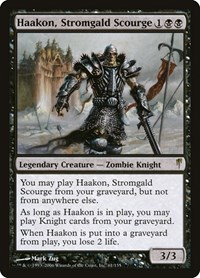Haakon, Stromgald Scourge, Magic: The Gathering, Coldsnap