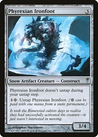 Phyrexian Ironfoot, Magic, Coldsnap