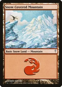 Snow-Covered Mountain, Magic, Coldsnap