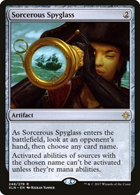 Sorcerous Spyglass, Magic: The Gathering, Ixalan