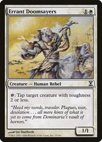Errant Doomsayers, Magic: The Gathering, Time Spiral