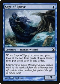 Sage of Epityr, Magic, Time Spiral