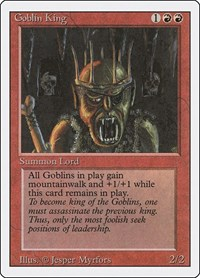 Goblin King, Magic: The Gathering, Revised Edition