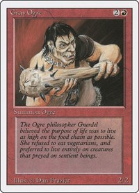 Gray Ogre, Magic: The Gathering, Revised Edition